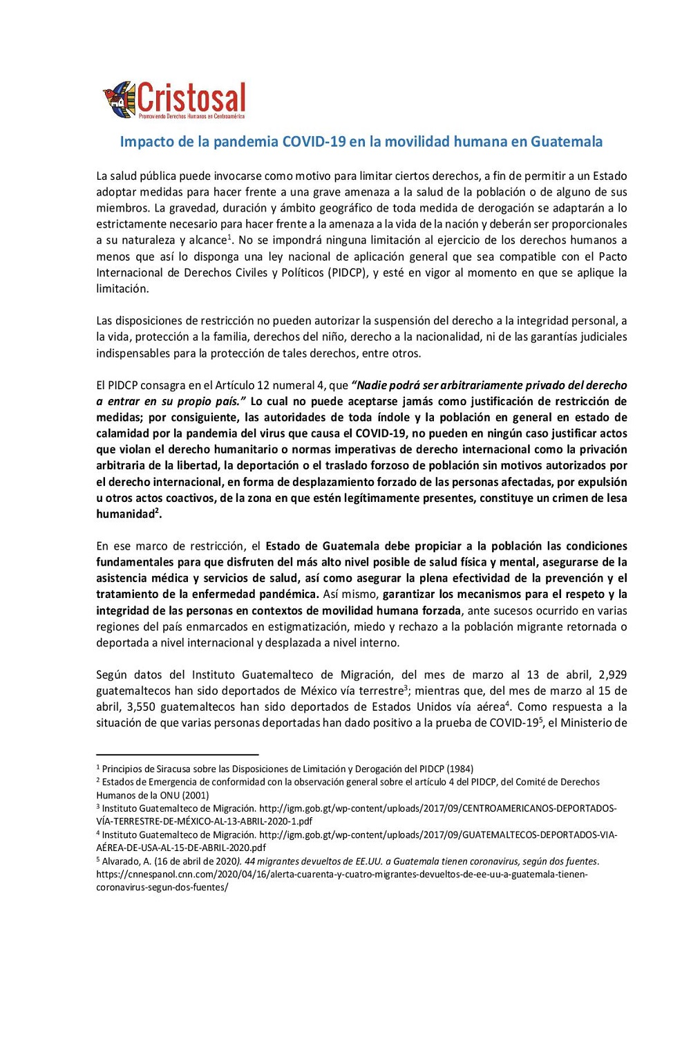 Impact of the COVID-19 pandemic on human mobility in Guatemala (Spanish)